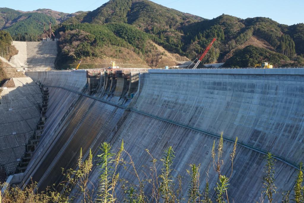 五ヶ山ダム工事の様子を覗き見!着々と進んでいます!
