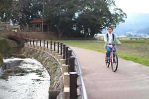 裂田溝でサイクリング!