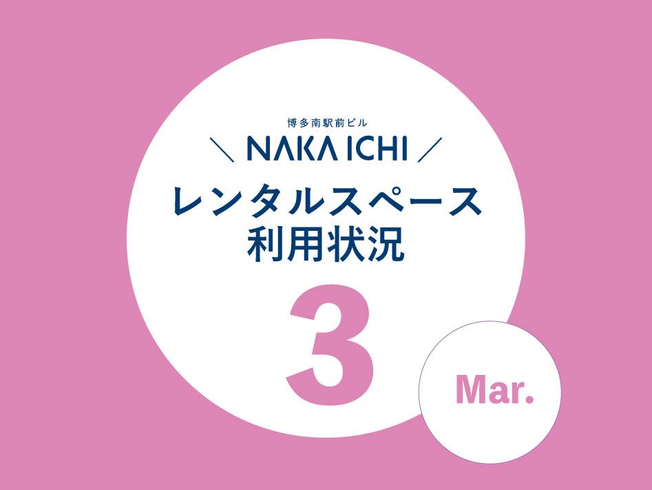 ナカイチレンタルスペース利用状況(3月)